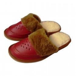 pantofle skórzane damskie